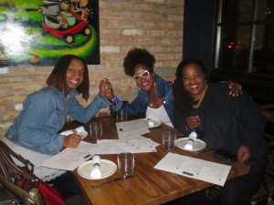 Teshima Walker Izrael, RIP (with Marie Nelson and me)