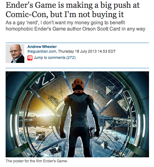 Articles like this one call for a boycott of the film.