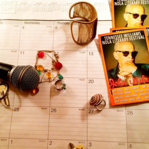 Jewelry as comfort; literary festival entices; microphone to capture.